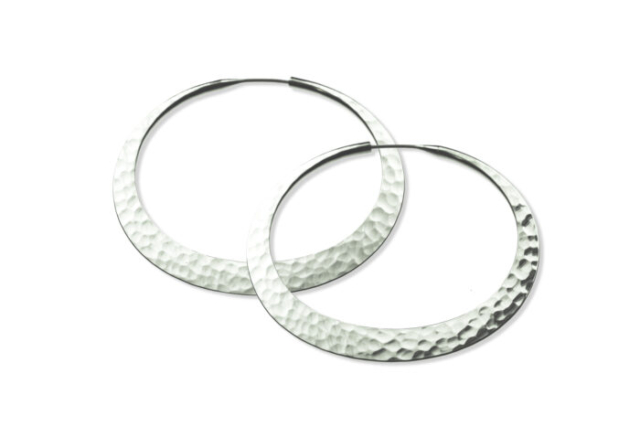 Sterling Silver Eclipse Hoops