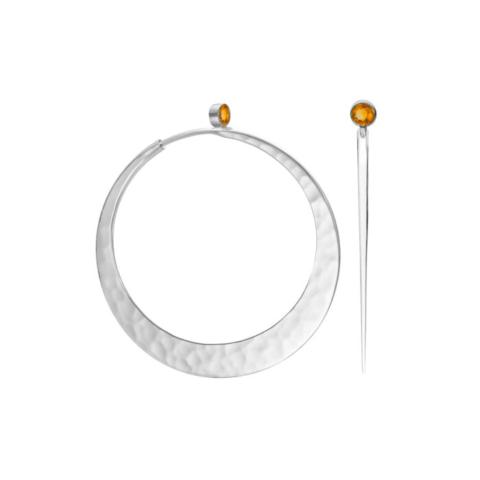 Brilliant Eclipse EcoSilver and Fire Opal