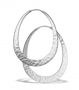 Oval hoops white Sm