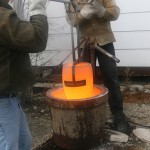 Removing crucible